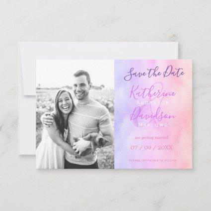 Modern Abstract Cloudy Mist Minimalist Wedding Save The Date