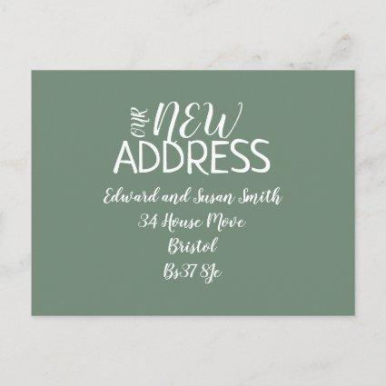 Modern and fresh Change of address card