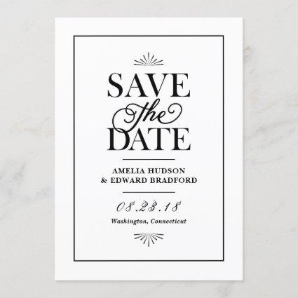 Modern and Script Typography Retro Save the Date