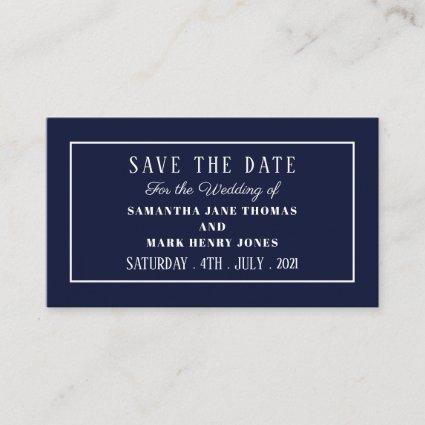 Modern and Sleek, Any Color, Save the Date Enclosure Card