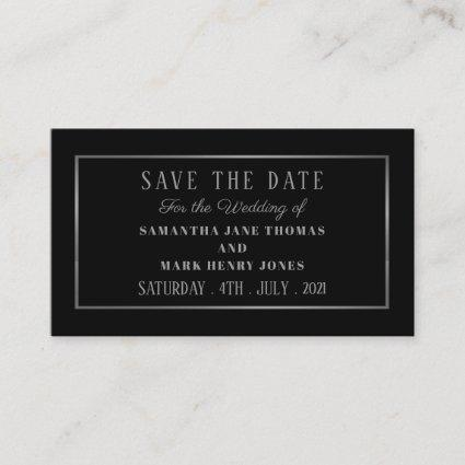 Modern and Sleek, Black and Silver, Save the Date Enclosure Card