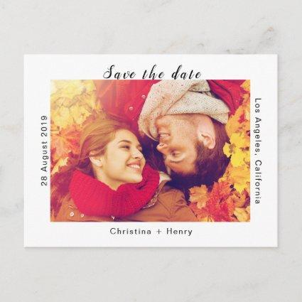 Modern And Stylish Save The Date Cards