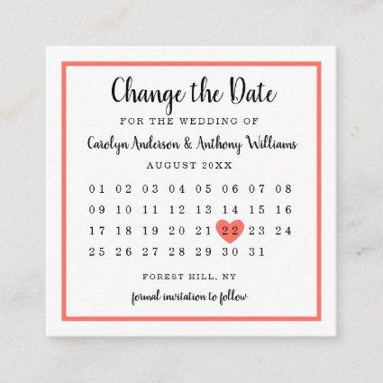 Modern Any Color Photo Calendar Change The Date Enclosure Card