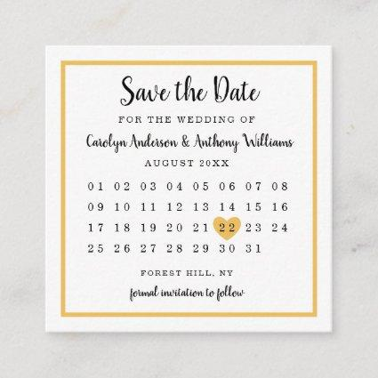 Modern Any Color Photo Calendar Save The Date Enclosure Card