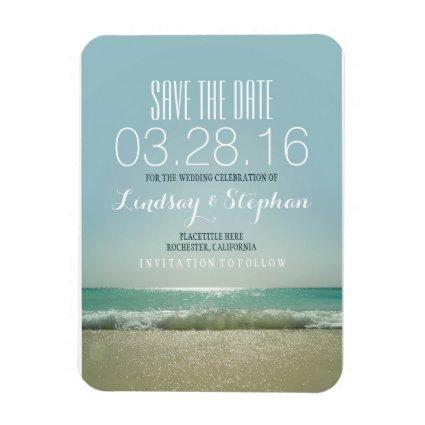 Modern Beach Wedding  Magnets
