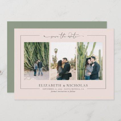 Modern Boho Desert | 3 Photo Save the Date