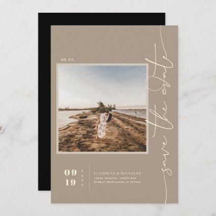 Modern Boho Desert | Square Photo Save the Date