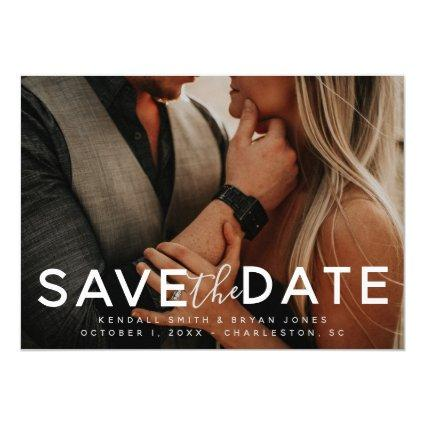 Modern Bold Photo Save the Date Invitation