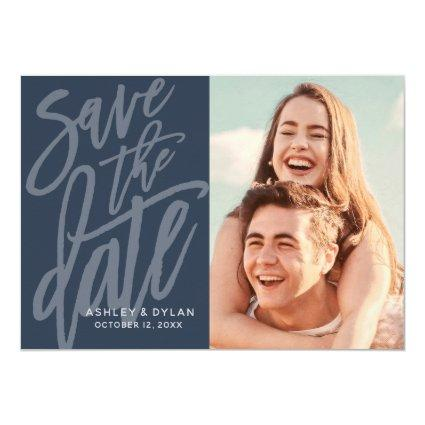 Modern Brush Save the Date Announcement
