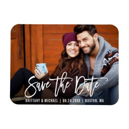 Modern Brush Script Save The Date Magnets