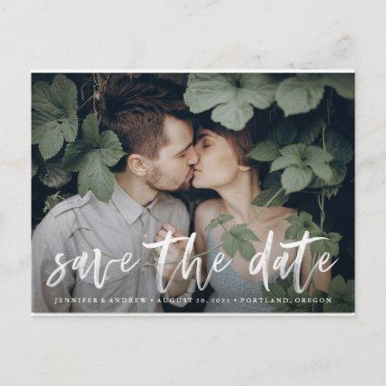 Modern Brushed | Photo Save The Date Cards