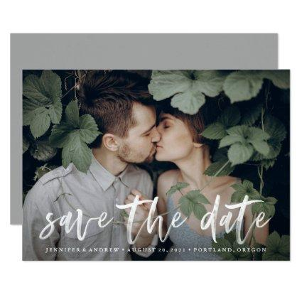 Modern Brushed | Save The Date Photo Announcement