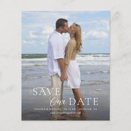Modern Budget Save Our Date Vertical Photo