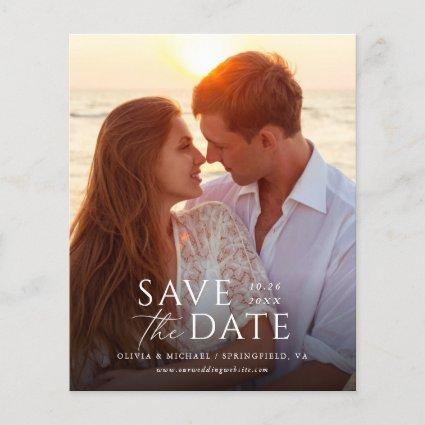 Modern Budget Simple Save the Date