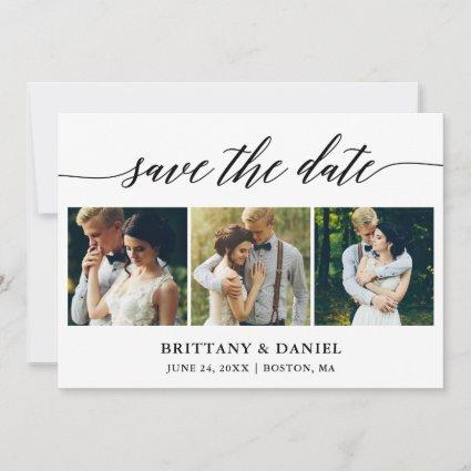 Modern Calligraphy 3 Photo Save The Date