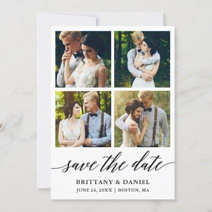 Modern Calligraphy 4 Photo Save The Date