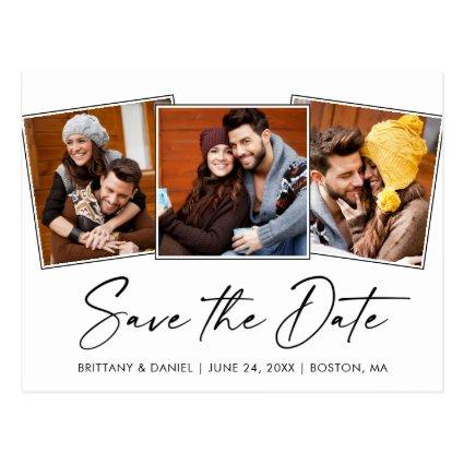 Modern Calligraphy Ink Save The Date 3 Photo