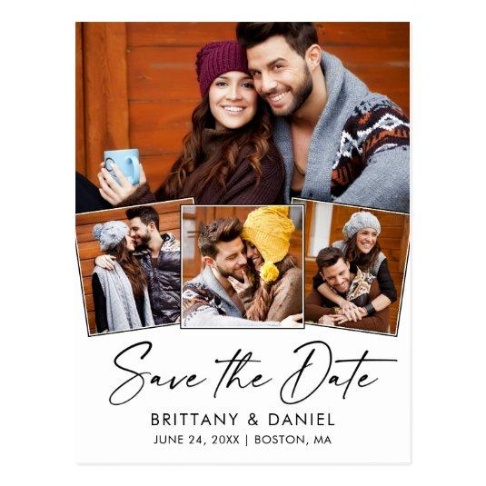 Modern Calligraphy Ink Save The Date 4 Photo