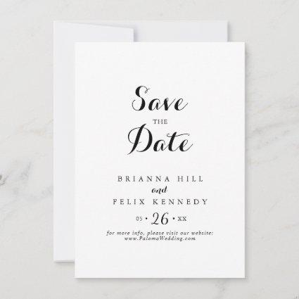 Modern Calligraphy Wedding Save The Date