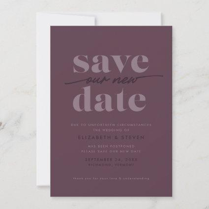 Modern Cassis Change the Date Card