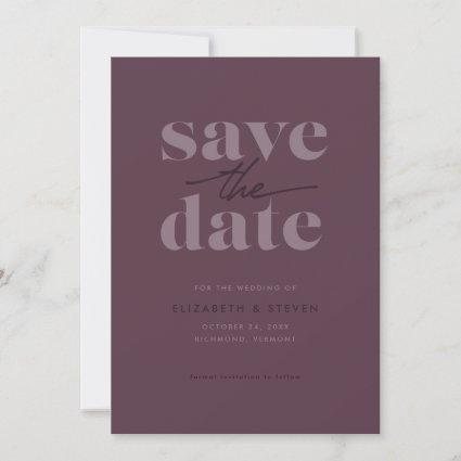 Modern Cassis Save the Date Card