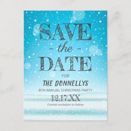 Modern Christmas Party Save the Date Announcement