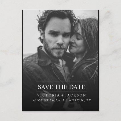 MODERN COOL ELEGANT PHOTO SAVE THE DATE ANNOUNCEMENT