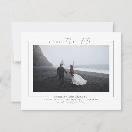 Modern Elegant Minimalist Save the Date Photo