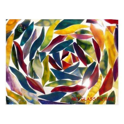 Modern Fine Art Glass Picture Card
