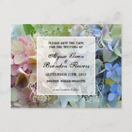 Modern Floral Save the Date Wedding Cards