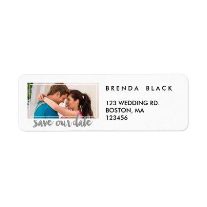 Modern Frame   Photo Save the Date Address Labels