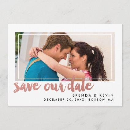 Modern Frame | Save the Date Announcements