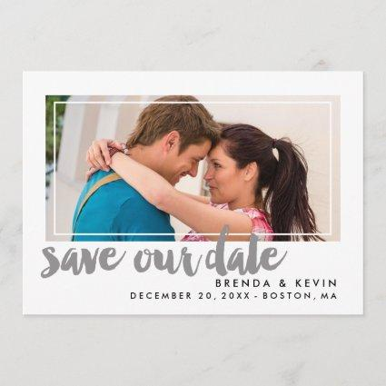 Modern Frame   Save the Date Announcement