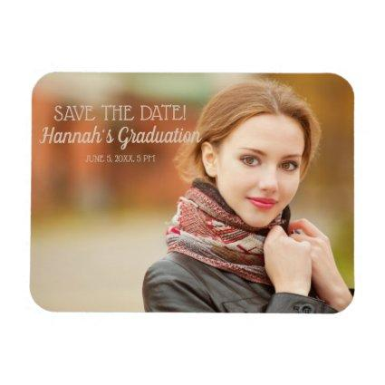 Modern Graduation Ceremony Save the Date Magnets