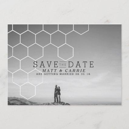 Modern Honeycomb Save The Date | Photo