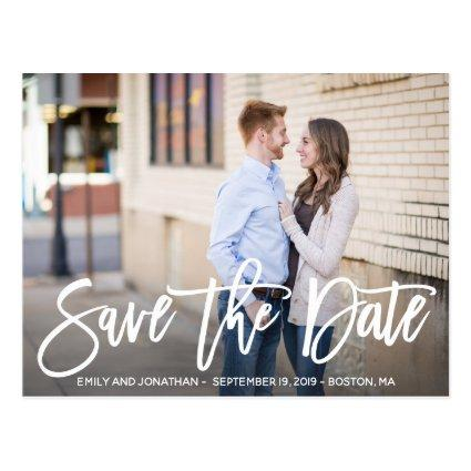 Modern Landscape Picture Save The Date Cards
