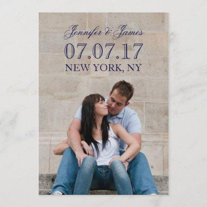 MODERN LINES | PHOTO SAVE THE DATE CARD