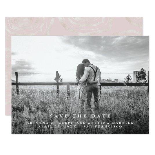 Modern Message | Save the Date Photo Card