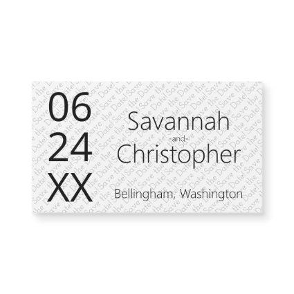 Modern Minimal Wedding Save the Date Magnet Card