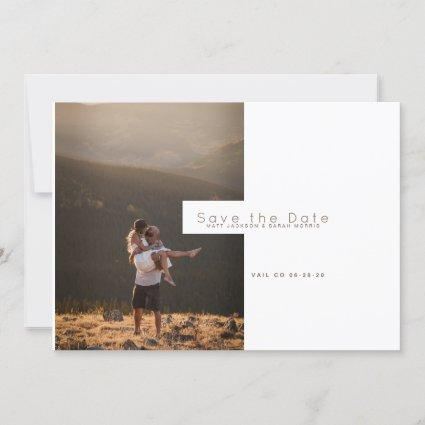 Modern Minimalist | Rustic Save the Date Photo Holiday Cards