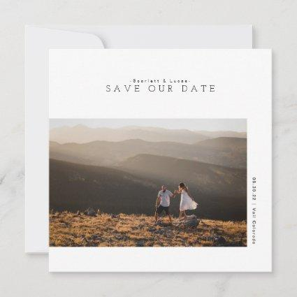 Modern Minimalist | Save Our Date Photo Cards