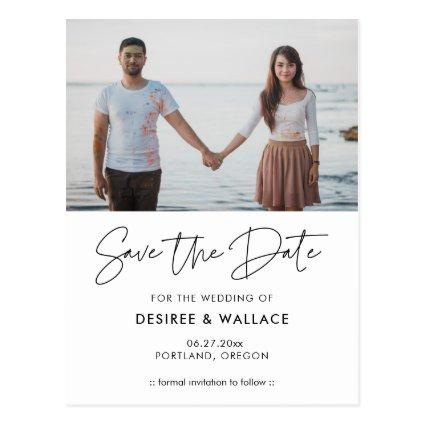 Modern minimalist Save the date photo