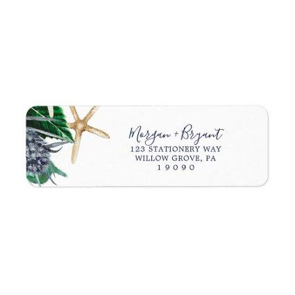 Modern Nautical | Greenery Return Address Label