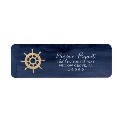 Modern Nautical | Ship Helm Return Address Label
