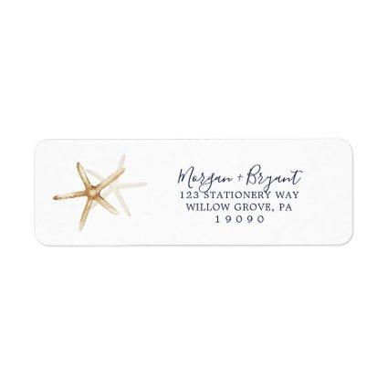 Modern Nautical | Starfish Return Address Label