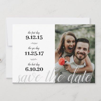 Modern | Our Story | Favorite Dates | 2 Photo Save The Date