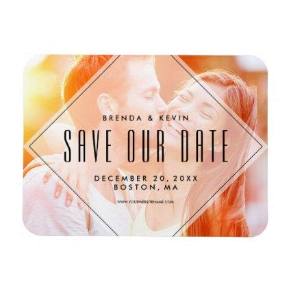 Modern Overlay | Photo Save the Date Magnets