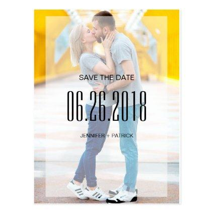 Modern Photo Save the Date Announcements Cards