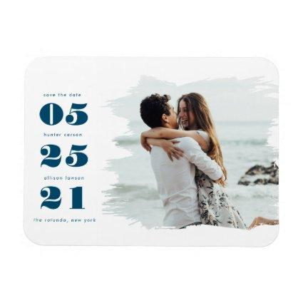 Modern Photo Save the Date Magnet