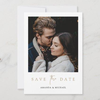 Modern Photo Save the Date Wedding Invite Template